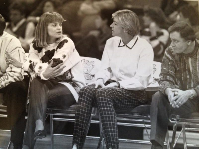Baylor Head Coach Kim Mulkey, Nell, and Leon when we were assistants at Louisiana Tech